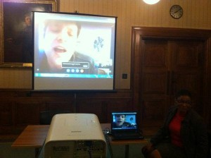 Q&A via skype with Director David Ritter at the University of London
